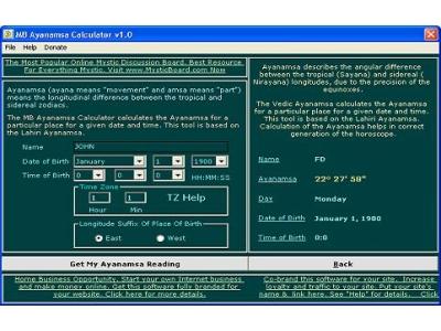 MB Ayanamsa Calculator