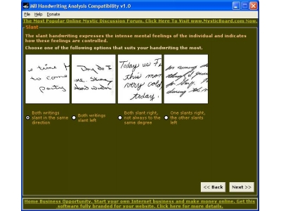 MB Handwriting Analysis Compatibility 1.0 full